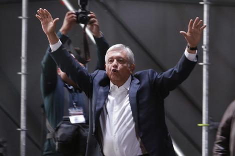 Lopez Obrador celebrates victory