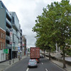 Cyclist knocked down by truck in Dublin city centre