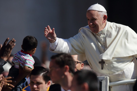 Pope Francis in St. Peter's Square last week