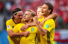 Bundesliga star Forsberg on target as Sweden book World Cup quarter-final spot