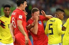Colombia lucky not to be down to 10 men as Barrios puts the head in on Henderson