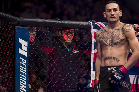 Out of action: Max Holloway.