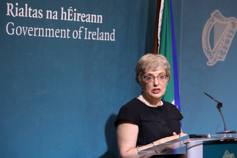 Minister Katherine Zappone at the announcement on 29 May.