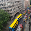 Traffic diversions in place as Dublin Fire Brigade attends scene of fire on city centre roof