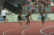 Watch: Ethiopian athlete pulls race leader's shorts in bizarre finish to men's 5,000m