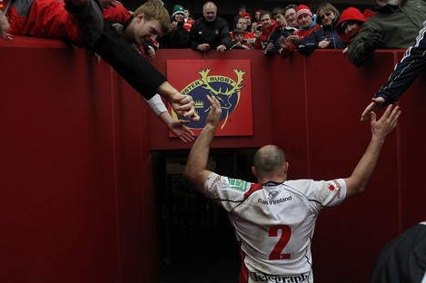 Rory Best takes the acclaim at Thomond Park