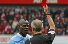 Red and dead: Mancini admits that Balotelli may be offloaded by City