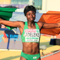 15-year-old Rhasidat Adeleke storms to 200m gold for Ireland at European Championships