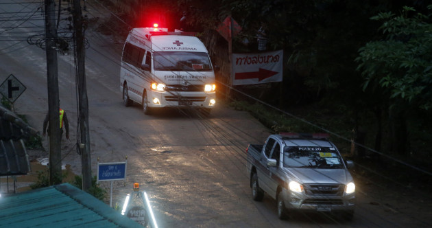 Four members of boys soccer team rescued from Thai cave they've been trapped in for 15 days