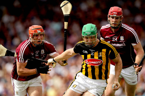 Conor Whelan and Jonathan Glynn with Paul Murphy during Sunday's Leinster final replay.