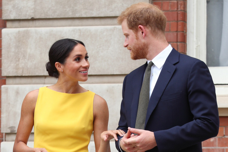 The Duke and Duchess of Sussex during the Commonwealth as they attend the Your Commonwealth Youth Challenge reception at Marlborough House in London.