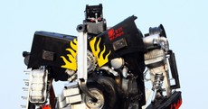 In pictures: Old car parts welded into real-life 'Transformers'