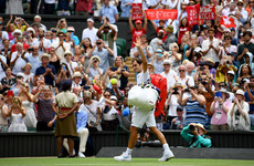 Federer needs just 16 minutes to win first set en route to Wimbledon quarters