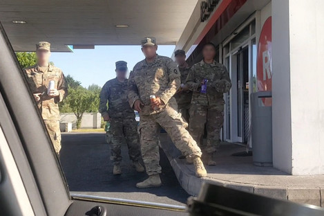 A photo of the army personnel taken by a passerby last month.