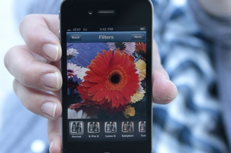 The Instagram app on an iPhone