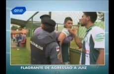 WATCH: Brazilian player punches referee following red card