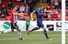 Delight for Dinamo as 10-man Derry City are left with a mountain to climb