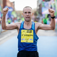 Over 20 years after a bad car accident, debt brought Gary O'Hanlon to the Dublin marathon podium