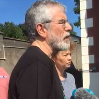 Gerry Adams says he doesn't know who attacked his home but he wants to speak with them