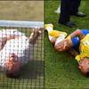 Tennis player mocks Neymar's diving at Wimbledon