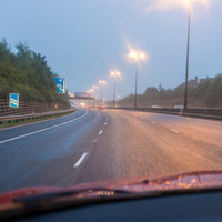 It's raining all over the country - so take extra care if you're driving