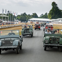Land Rover celebrates 70 years with its largest ever parade of vehicles at Goodwood