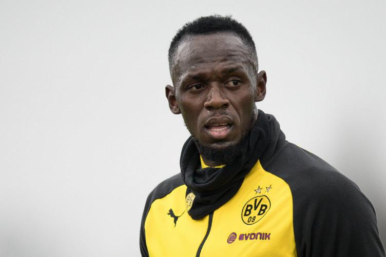 Usain Bolt in Borussia Dortmund training