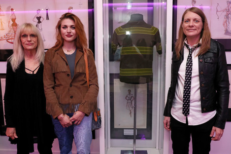 Kurt's mother Wendy, daughter Frances Bean and sister Kim visited the exhibition in Newbridge.