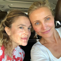 Here's why Cameron Diaz and Drew Barrymore went makeup free for a selfie