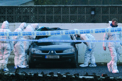 The scene of the murder of Peter Butterly in Gormanstown in Meath.
