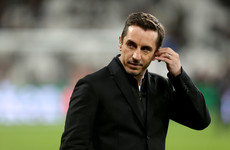 Gary Neville embroiled in Twitter row after controversial signing of Irish striker