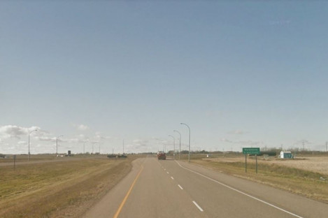 A section of the Highway where the incident occurred.