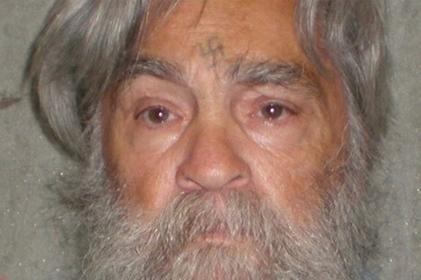 Charles Manson, now 77, as pictured in a prison photo last month. He carved a swastika into his forehead during his trial.