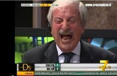 WATCH: Notoriously crazy Italian soccer commentator starts crying