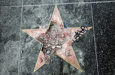 Donald Trump's Walk of Fame star is back after being vandalised with a pickaxe