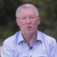 Alex Ferguson looks healthy as he speaks publicly for the first time since brain haemorrhage