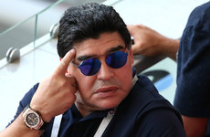 Diego Maradona calls into live TV show to call nephew a 'coward'
