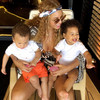 Beyoncé gave us a rare peek at twins Rumi and Sir while on hols