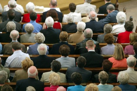 People attending a mass at the Church of Saint Andrew on Westland Row in Dublin (File photo)