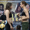Katie Taylor weighs in ripped and ready to defend world titles in London