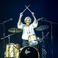 Mary Berry joined Rick Astley on stage to play drums at a UK festival last night