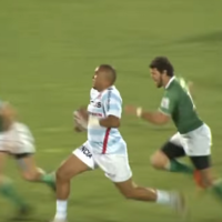 Watch: Simon Zebo produces a sensational run to score his first try for Racing 92