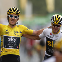 Geraint Thomas celebrates Tour de France triumph as Norway's Kristoff claims final stage