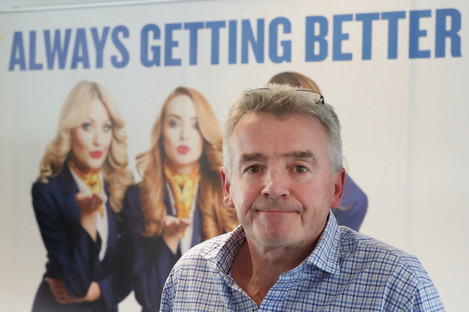 Ryanair boss Michael O'Leary at a press conference last year.
