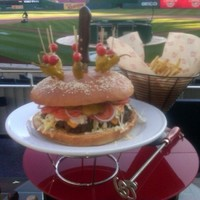 You don't get this at Croker... check out the massive burger the Washington Nationals are serving up
