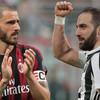 Higuain close to joining Milan while Bonucci set to make Juve return