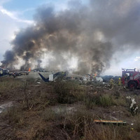 97 injured as Mexican plane crashes at airport in hail storm
