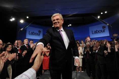 Eamon Gilmore at the Labour conference in 2010