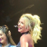 A Britney Spears fan made her laugh on stage and it's started a gas new concert trend