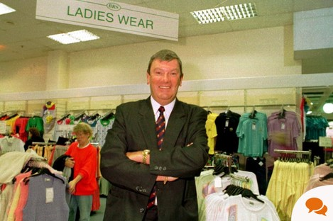 Ben Dunne back in the days of his 'Buy Right' stores. Now he's more concerned about what's going on in the men's department of his gyms...